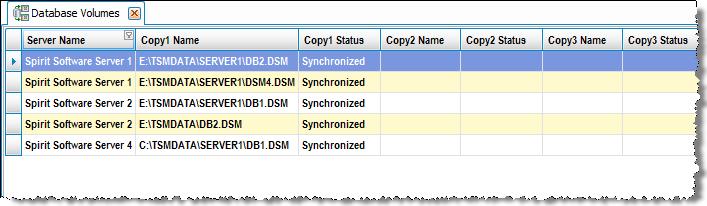 DatabaseVolumes